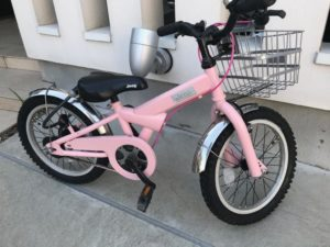 JEEP自転車ピンク塗り替え